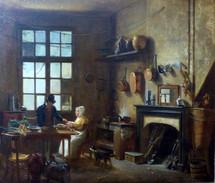 """""""Intérieur de cuisine"""" (détail) - Martin DROLLING - France - 18e/19e siècle"""