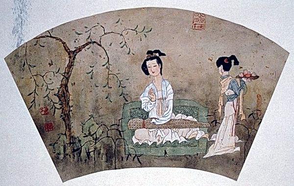 Pheï Zhang Yang, Une princesse d'autrefois jouant du luth