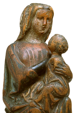 """""""Vierge à l'Enfant"""" (détail) - 14e siècle"""
