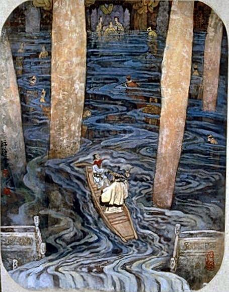Pheï Zhang Yang,Et il aida le maître à monter en barque