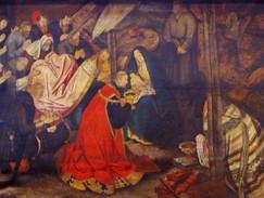 """""""L'Adoration des Rois Mages"""" (détail) - Pieter II BRUEGHEL, dit d'Enfer (attribué à) - Anvers - 16e/17e siècle"""