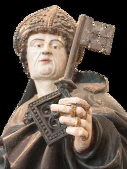 """""""Évêque Saint Géry"""" (détail) - Allemagne - 17e siècle"""
