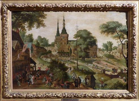 Place de Bailleul vers 1620 - Savery Jacob II, dit le Jeune (attribué à) ©MBDP
