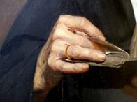 """""""Religieuse lisant l'office"""" (détail) - Pharaon DE WINTER - Lille - 1896"""