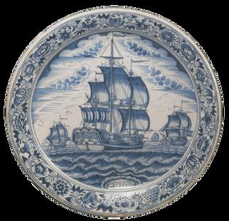 Plat - Makkum (Pays-Bas du Nord) - 1780