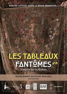 """Affiche Exposition temporaire """"Les Tableaux Fantômes #10"""" - 2020"""