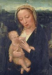 """""""La Vierge allaitant l'Enfant Jésus"""" - Adriaen ISENBRANDT (? - 1551) - Flandre - 16e siècle"""