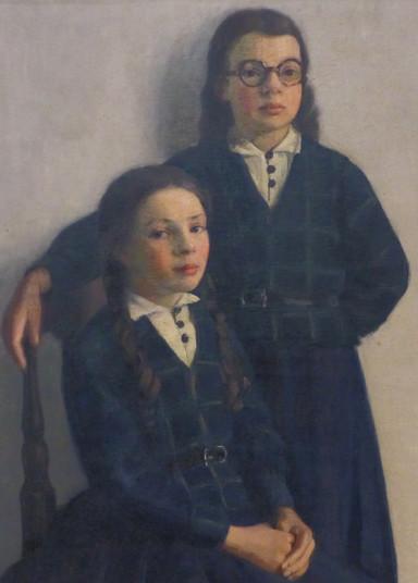 """""""Les deux soeurs"""" (détail) - Jacques COLPIN - France - 20e siècle (1ère moitié)"""