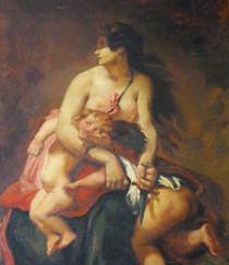 """""""Médée furieuse"""" (détail) - Eugène DELACROIX (d'après) - France - 19e siècle"""
