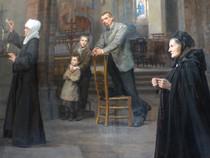 """""""En prière ou Souvenir de Bruges"""" (détail) - Pharaon DE WINTER - Lille - 1894"""
