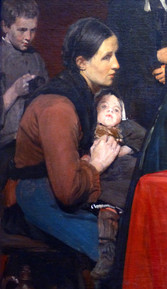 """""""Au dispensaire"""" (détail) - Pharaon DE WINTER - Bailleul - 1886"""