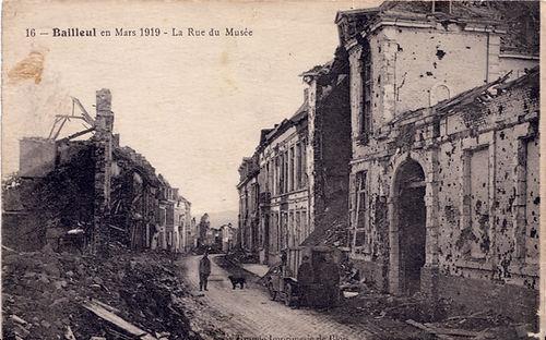 Rue du Musée du Puydt après la 1ère G.M. ©ArchivesBailleul