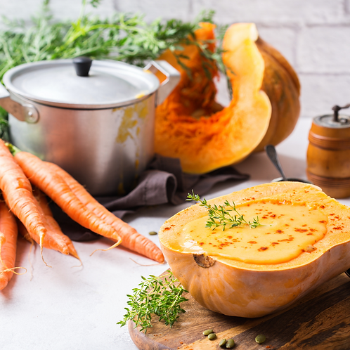 Soupe Butternut Carotte Chorizo