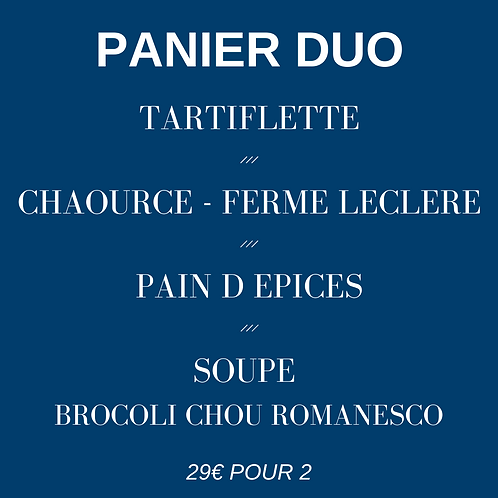 Panier DUO - 2 repas pour 2