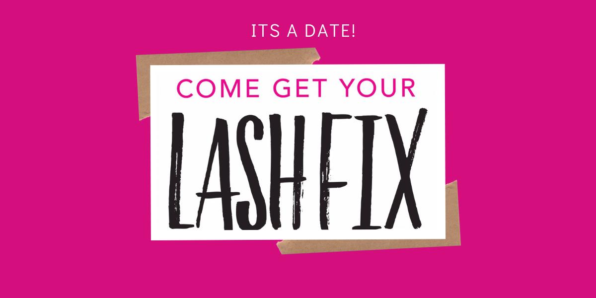 come get lash fix banner