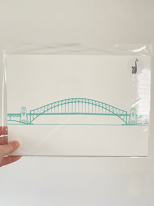 Sydney Harbour Bridge - Turquoise (A4 Size)