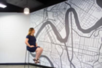 Brisbane City Map Mural