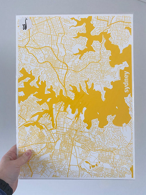 I left my heart in Sydney - Yellow (A3 size)
