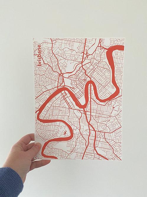 I left my heart in Brisbane - Watermelon (A4 Size)