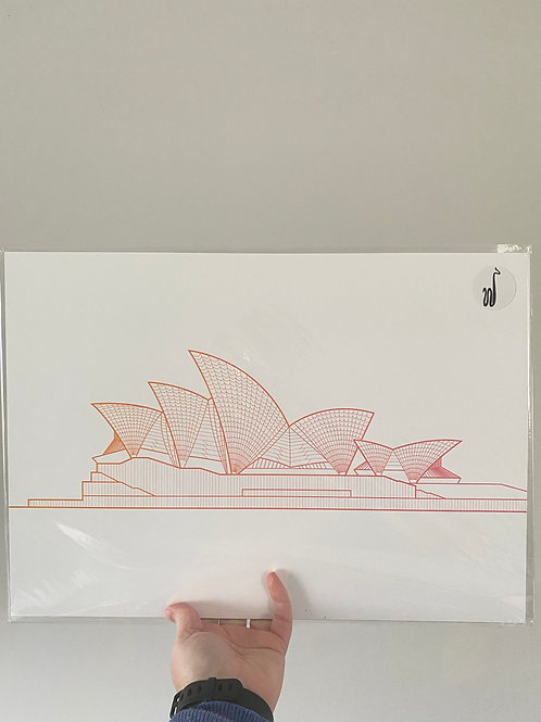 Sydney Opera House - Sunset Orange (A3 size)