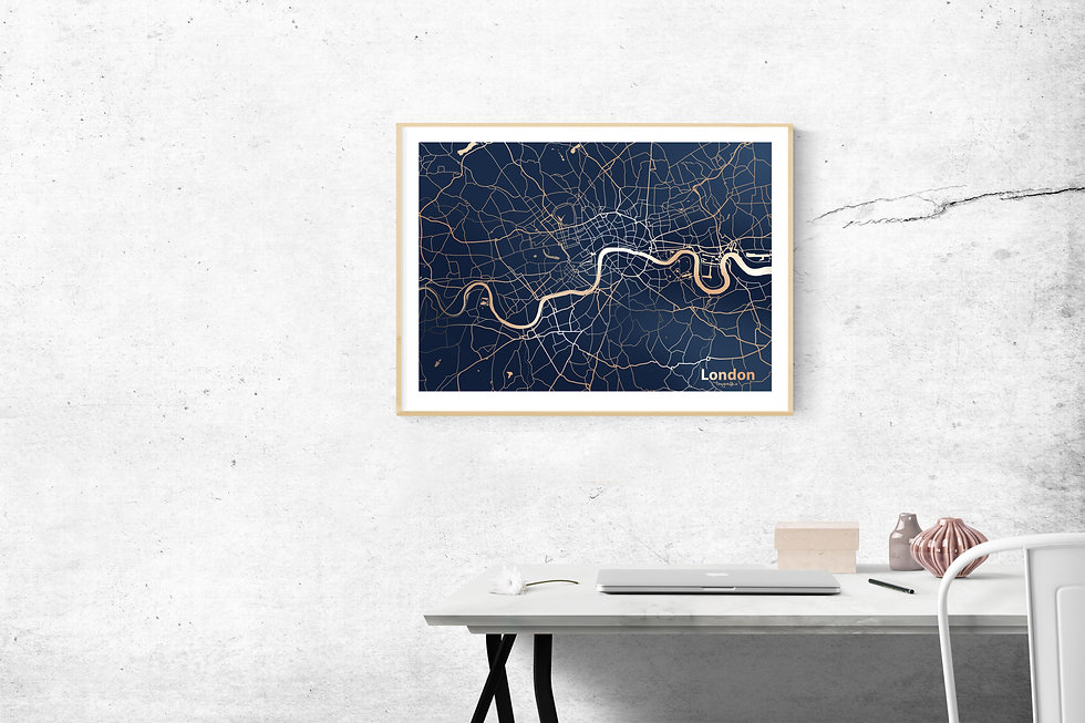 LONDON Gold Foil Fine Art Print