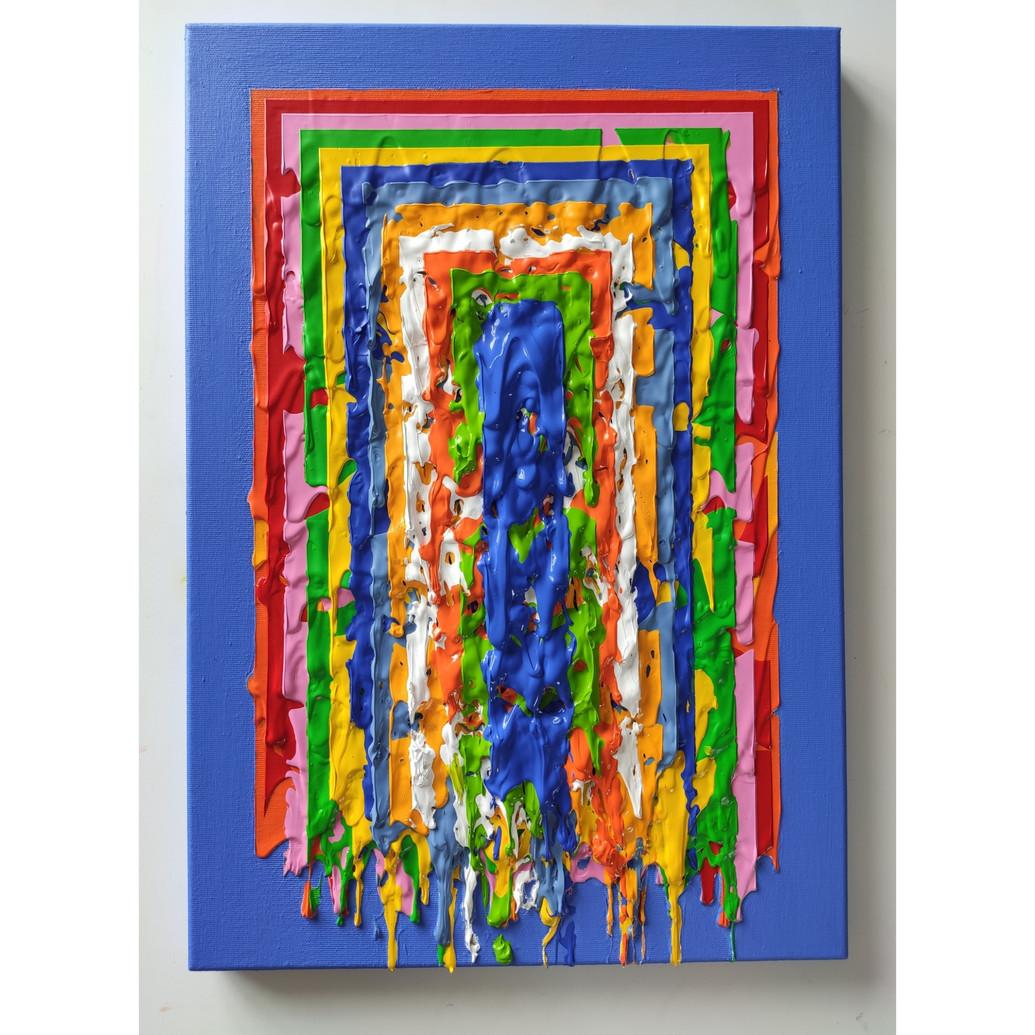Ox-Herding (No25) - acrylic on canvas - 35x51cm 2020