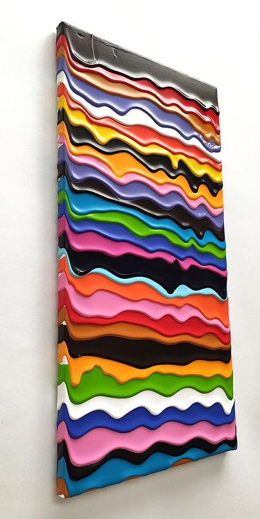 Wall of the Sky - 2021 -Acrylic on canvas - 60x30cm