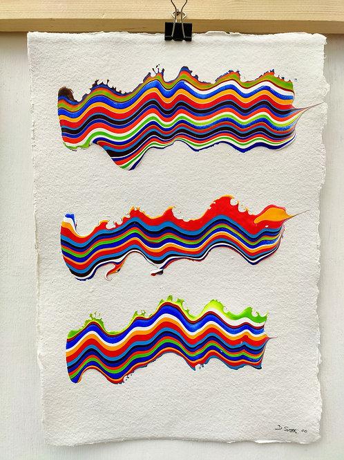 Colour study on cotton rag
