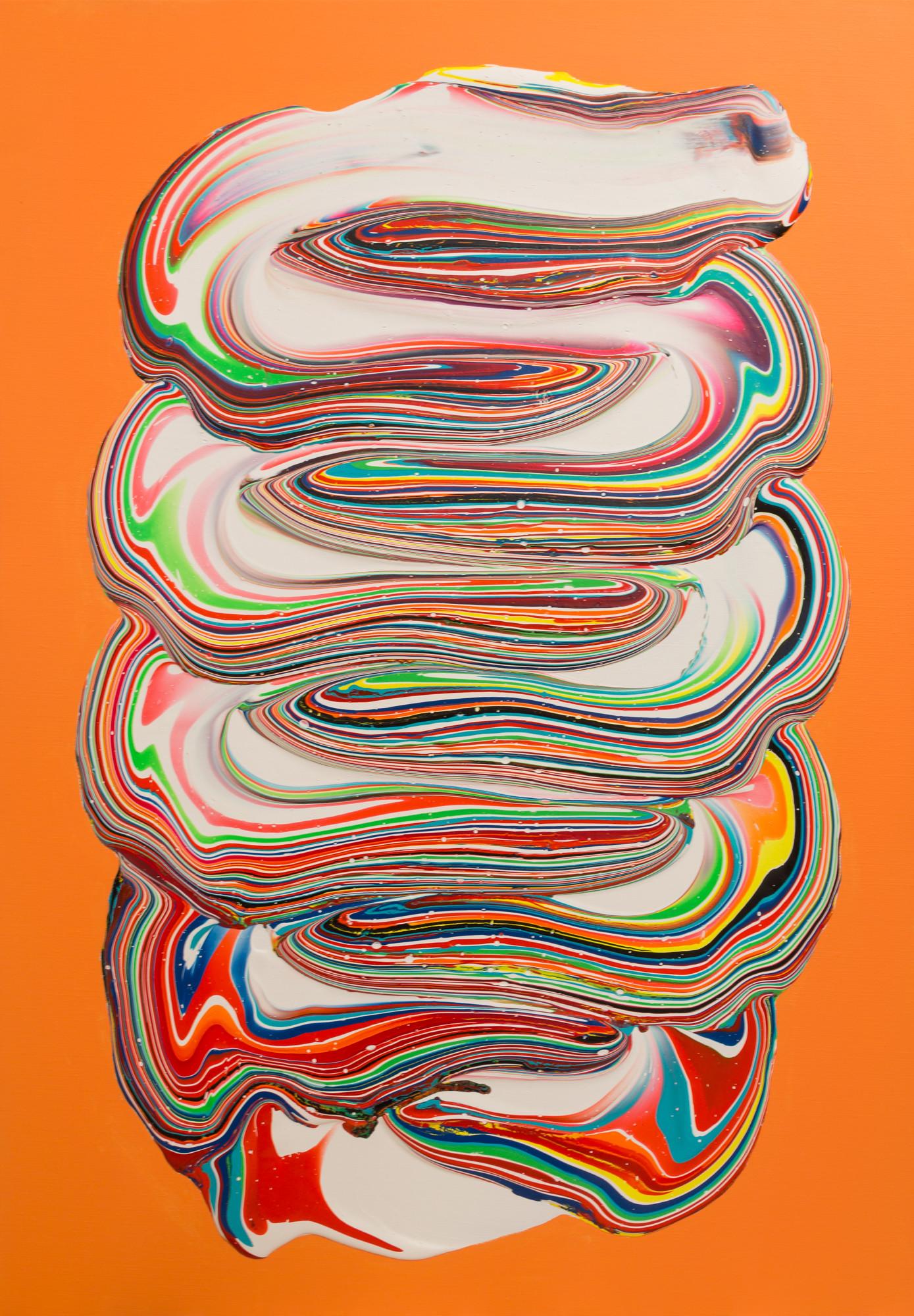 untitled-on-light-orange-acrylic-on-canv