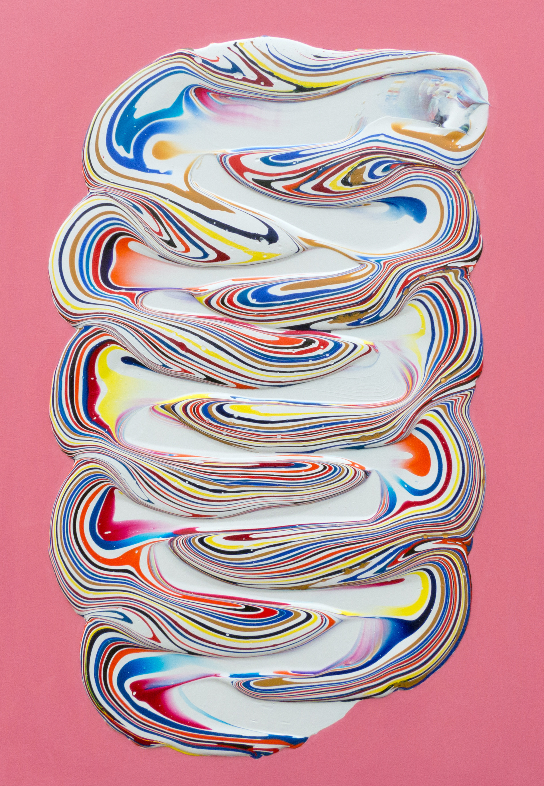 On Pink - Acrylic on canvas - 100x70cm