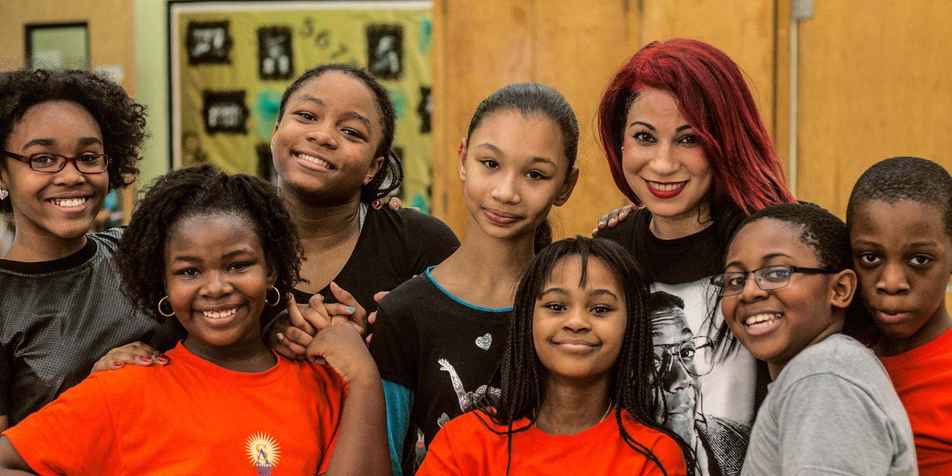 Group Pic Bronx Charter School Kids Smile ;)