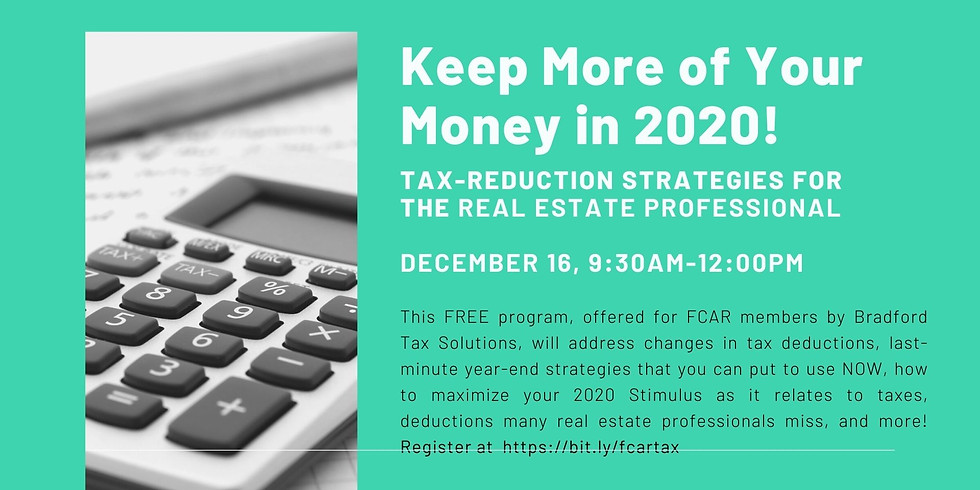 Tax Reduction Strategies for Real Estate Professionals