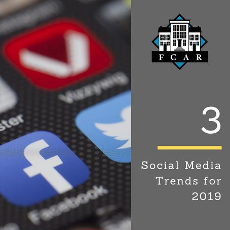 Three Social Media Trends in 2019