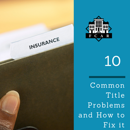 10 Common Title Problems and How to Fix it