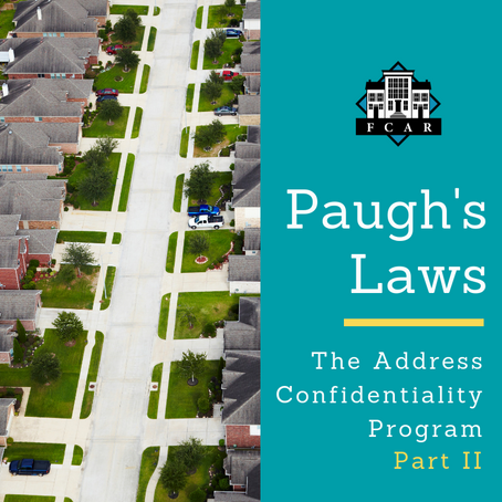 Paugh's Laws | What you Need to Know About the Address Confidentiality Program