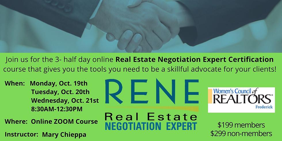 RENE (Real Estate Negotiating Expert) Certification