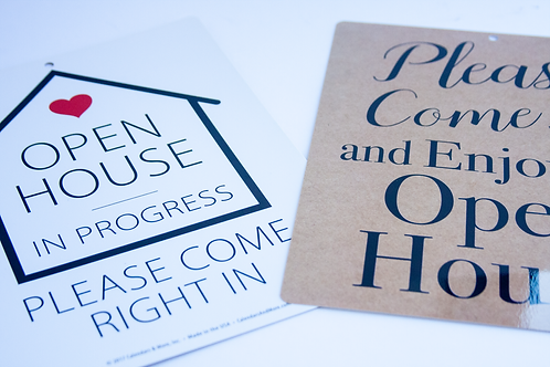 Open House in Progress Sign