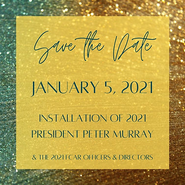 Save the Date January 5, 2021 Installati