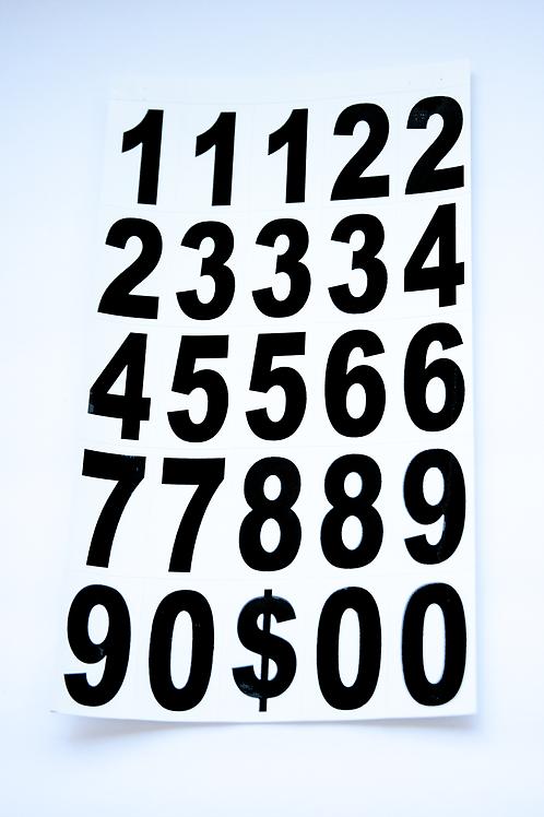 Vinyl Numbers 2 inch