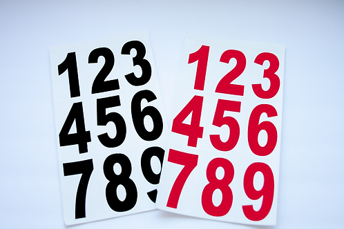 Vinyl Numbers 3 inch