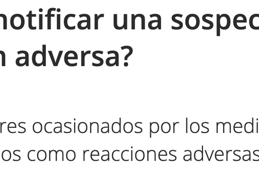 ¿Cómo notificar una sospecha de reacción adversa?