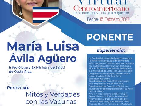 Ponentes 1er Simposio Virtual Centroamericano de Vacunas Covid-19 y su seguridad.