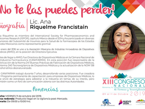 No te pierdas la Conferencia Magistral de la Lic. Ana Riquelme