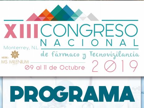 Programa Preliminar XIII Congreso Nacional de Fármaco y Tecnovigilancia
