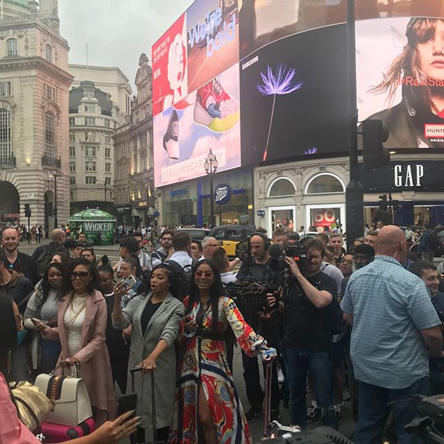 Filming in Reality TV in Central London