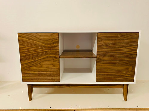"""White and Walnut 48"""" TV Stand - Mid Century Style - Free Shipping!"""