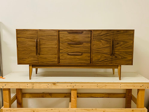 Mid Century Style Walnut Buffet / TV Console / Bathroom Vanity Cabinet