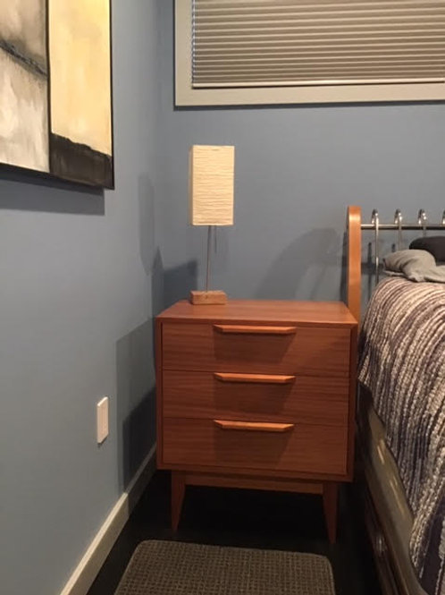 Mid Century Style Pair of Mahogany 3 Drawer Night Stands!