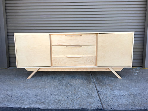 (M6) 2 Door / 3 Drawer in Maple Credenza - Angled Leg