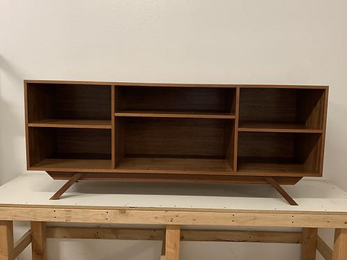 (Mah12) Mahogany Bookshelf / Buffet- Mid Century Style - Free Shipping!!